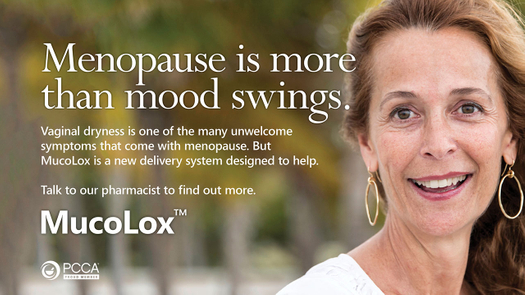 Graphic for MucoLox which is used to treat vulvovaginal atrophy