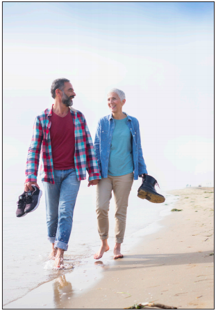women and man walking on the beach erectile dysfunction tadalafil compounding options