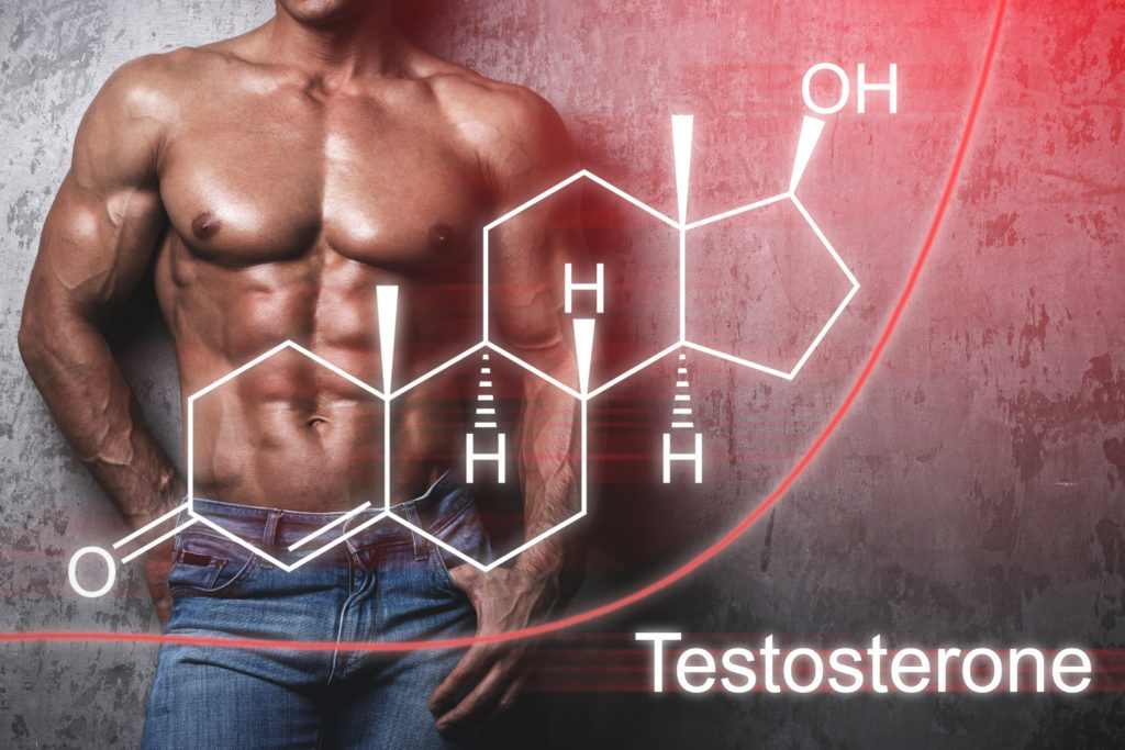 Fit man shirtless with male hypogonadism or low testosterone